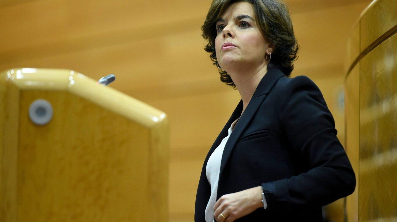 Soraya Sáenz de Santamaría, en el Senado.