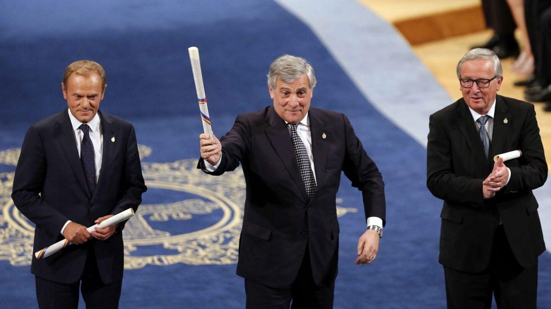 Tusk, Tajani y Juncker recogen el Princesa de Asturias.