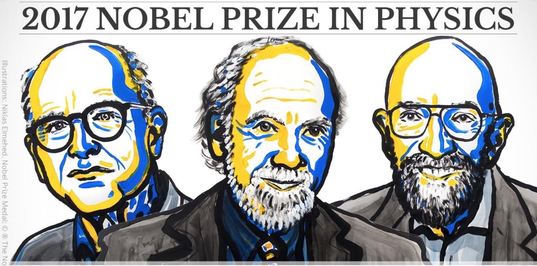 Weiss, Barish y Thorne, premio Nobel de Física