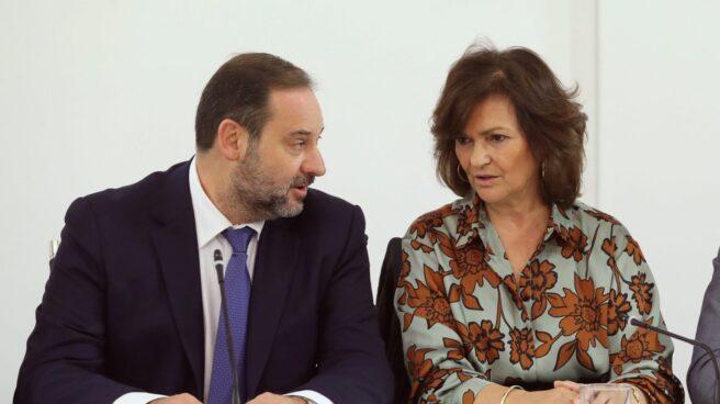 José Luis Ábalos y Carmen Calvo.