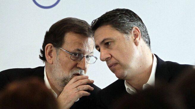 El presidente del Gobierno, Mariano Rajoy, y el líder del PP catalán, Xavier García Albiol.