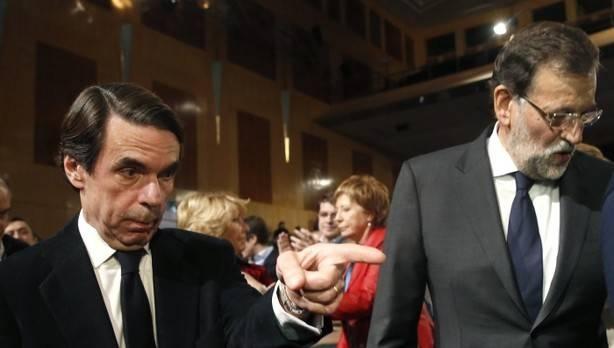 """Aznar exige a Rajoy que salga de su """"inacción"""" ante el proceso de independencia de Cataluña"""