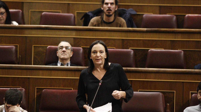 La diputada Carolina Bescansa en el Congreso de los Diputados.