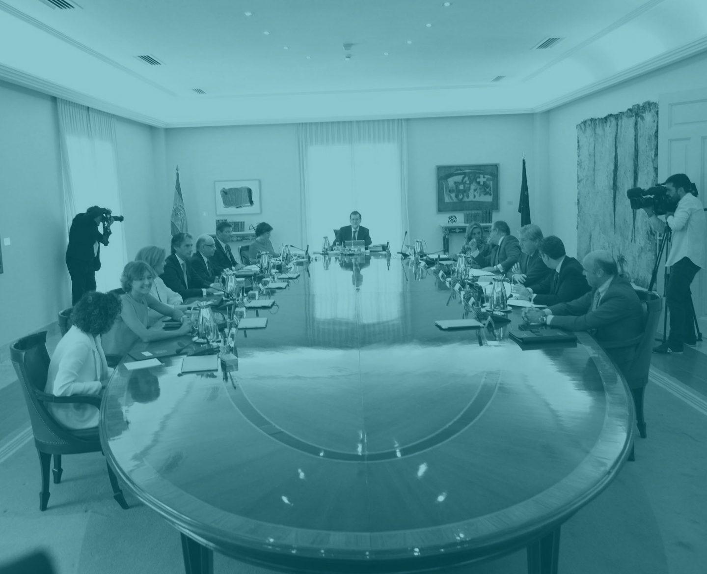 El Consejo de Ministros, durante una reunión.