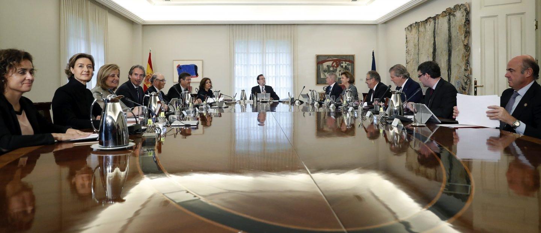 Mariano Rajoy, reunido en Consejo de Ministros.