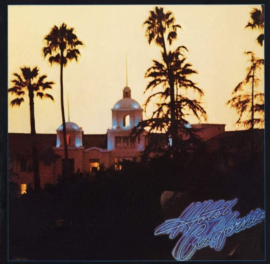 Portada de Hotel California de Eagles.
