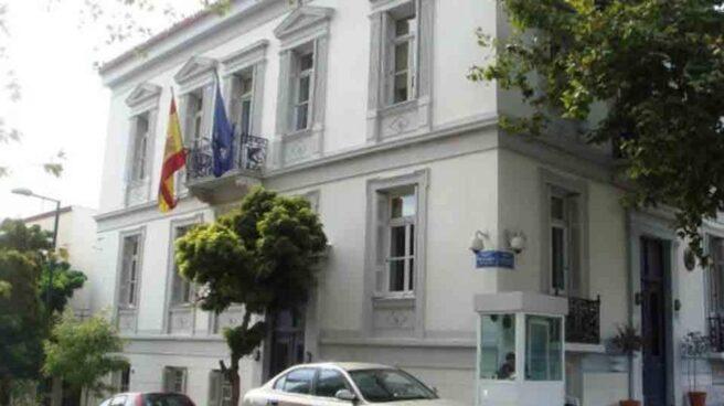 La embajada de España en Atenas.