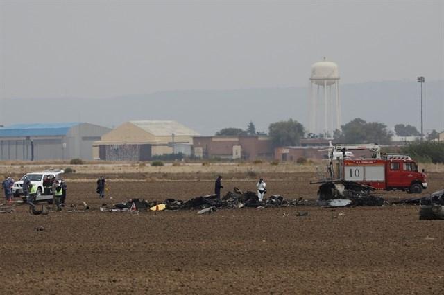 F-18 estrellado en Torrejón