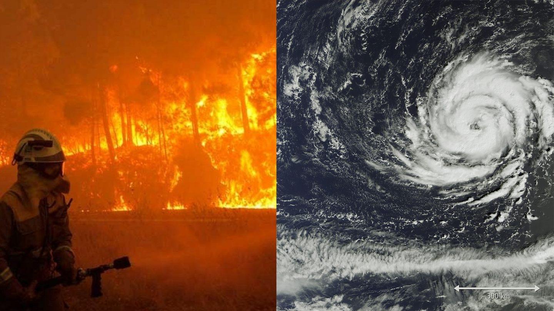 Huracán Ophelia e incendios en Galicia