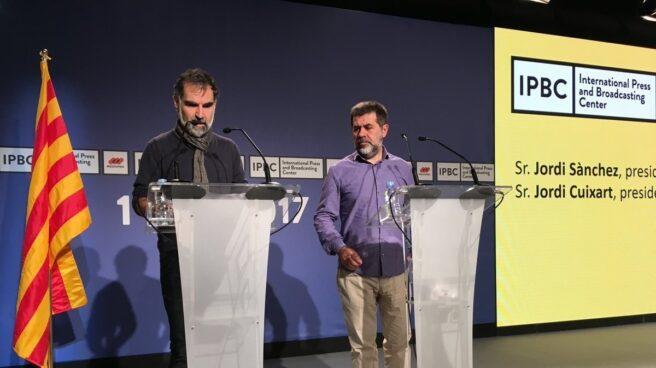 Jordi Cuixart (Òmnium) y Jordi Sánchez (ANC).