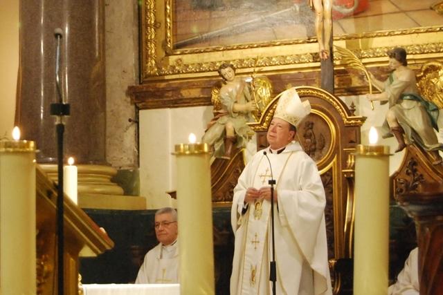 Juan del Río, durante una celebración religiosa.