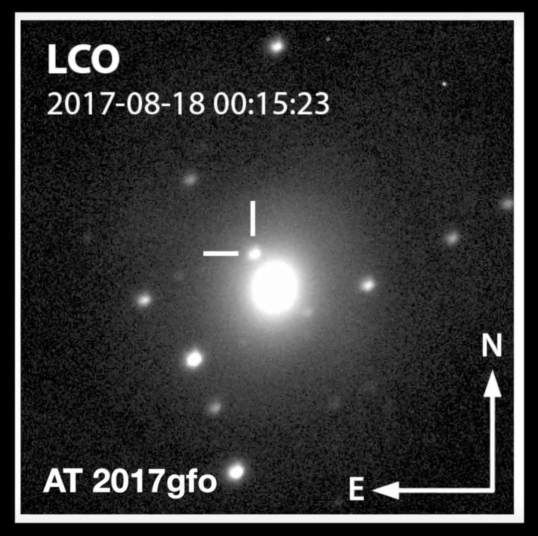 Destello de rayos gamma de la fusión de dos estrellas de neutrones