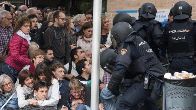 Incidentes en Lleida durante el 1-O.