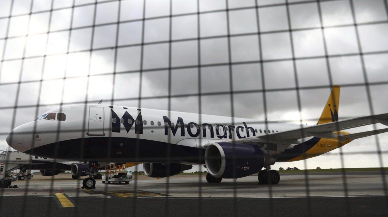 Un avión de la aerolínea británica Monarch.