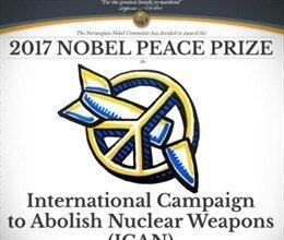 La campaña para la prohibición de armas nucleares recibe el Nobel de la Paz 2017