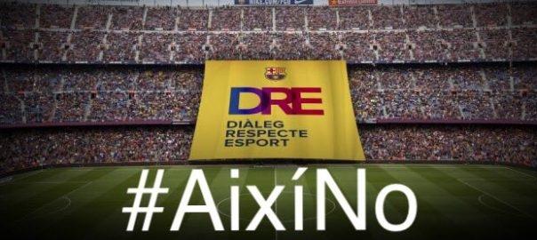 La ANC ha compartido la pancarta que este miércoles desplegará el Barcelona, con el lema 'Así No'