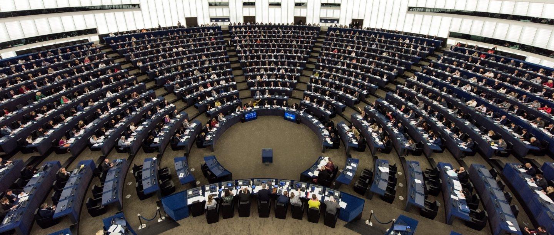 Parlamento Europeo, durante la sesión matinal de este miércoles 4 de octubre.