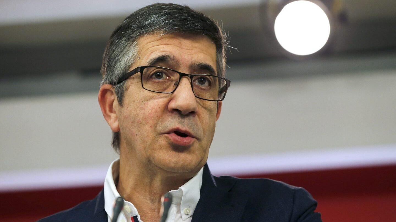 El responsable de Política Territorial del PSOE, Patxi López.