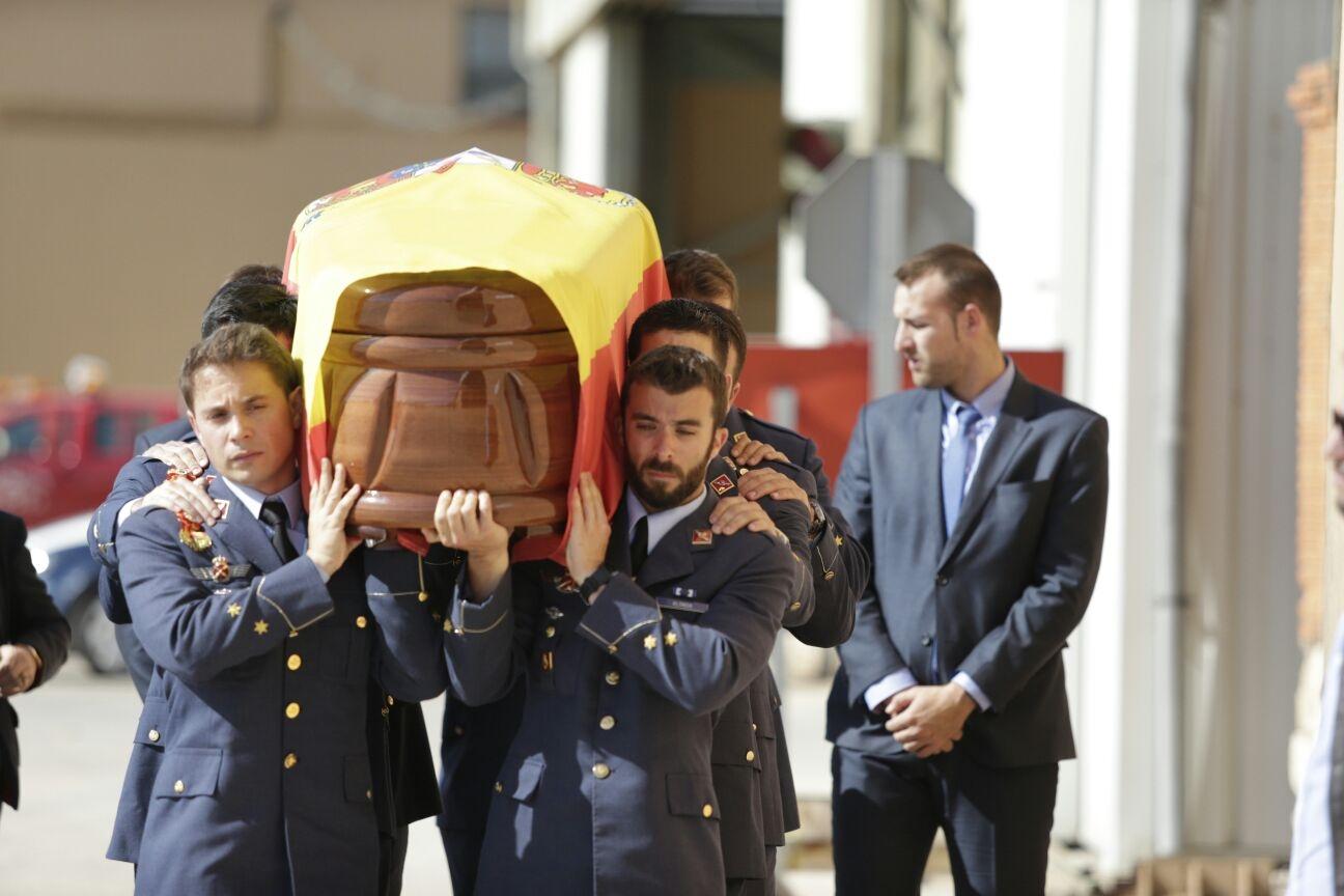 Funeral de Borja Aybar, el piloto que falleció el pasado 12 de octubre.