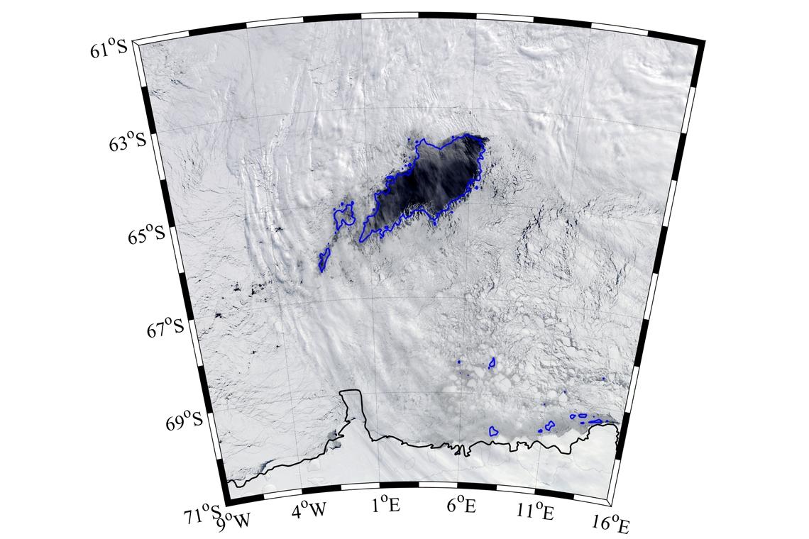 Polinia en la Antártida.