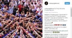 Mensaje de Puigdemont en las redes sociales dos días después de ser cesado.