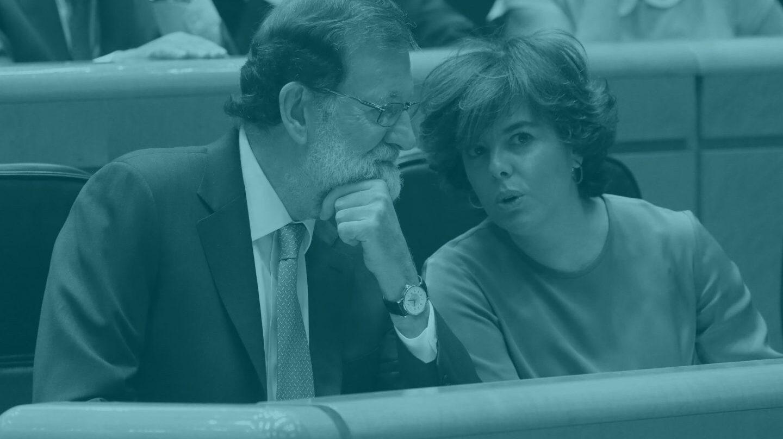 Mariano Rajoy y Soraya Sáenz de Santamaría.