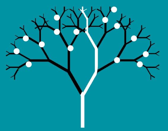 Esquema de una red neuronal imaginaria