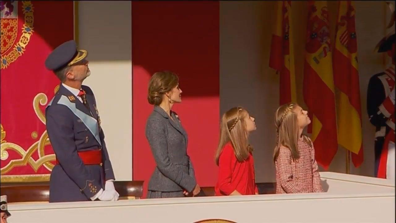 Los reyes durante la celebración del 12 de octubre