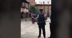 Mossos en Sampedor, localidad natal de Pep Guardiola