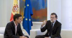 Pedro Sánchez y Mariano Rajoy, en la Moncloa.