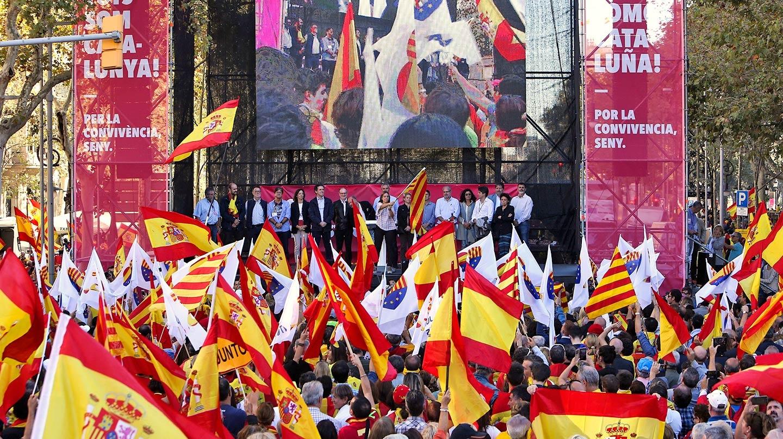 Manifestación en Barcelona contra la independencia