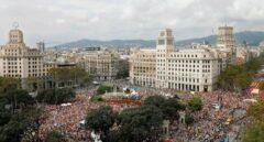 """Manifestación en el País Vasco al grito de """"independencia"""" en el día de la Hispanidad"""