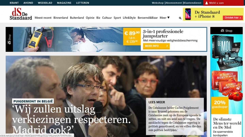 Edición digital del diario belga Standaard.