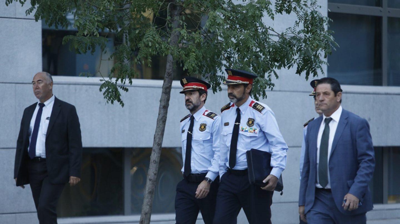 El mayor de los Mossos, Josep Lluís Trapero, a su llegada a la Audiencia Nacional, donde declarará por un posible delito de sedición.