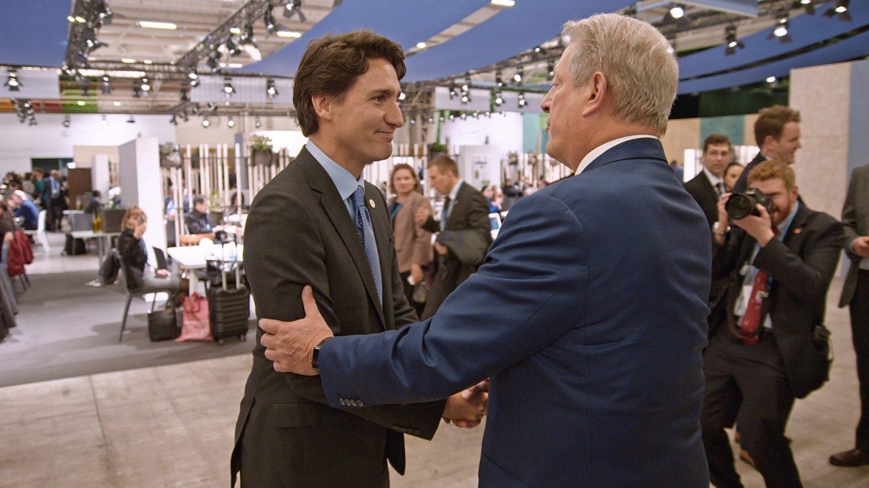 Al Gore y Justin Trudeau, Primer Ministro de Canadá.