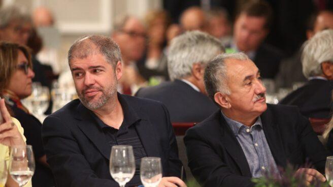 Unai Sordo y Pepe Álvarez en un desayuno Informativo con Pedro Sánchez el pasado 5 de septiembre.