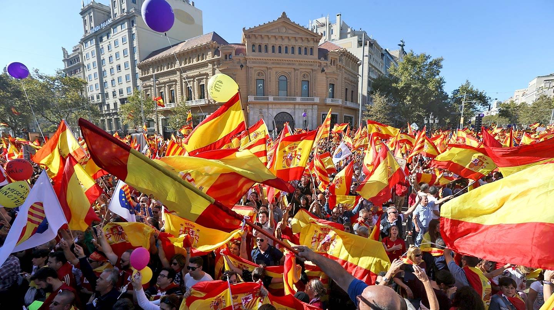 Manifestación contra la independencia