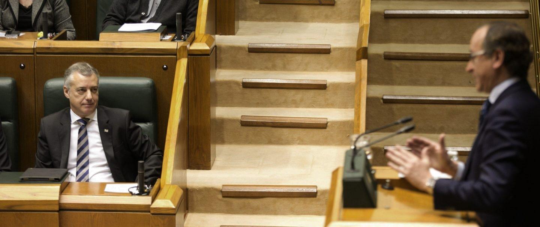 Iíñigo Urkullu, en el Parlamento vasco.