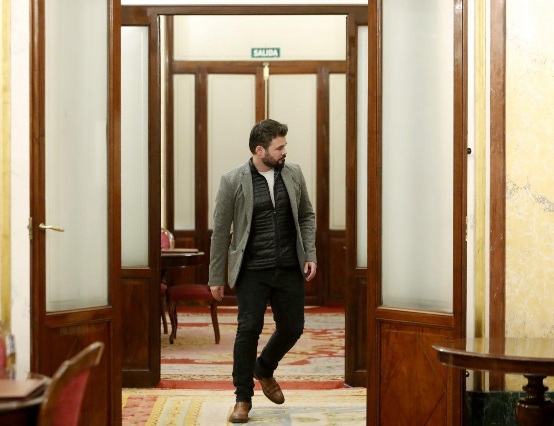 Rufián se dirige a la sesión de control al Gobierno de este miércoles