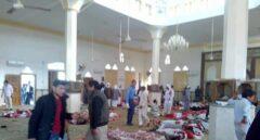 La mezquita de la península del Sinaí, en Egipto, tras el atentado.