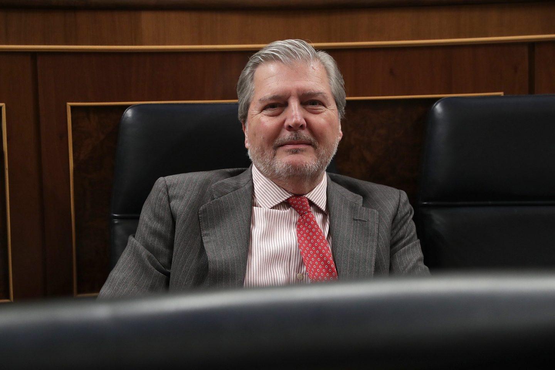 El ministro de Cultura, Íñigo Méndez de Vigo, este miércoles en el Congreso