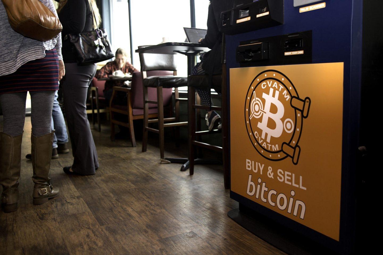 Una máquina de cambio de bitcoin.