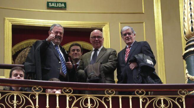Consejeros vascos en el debate del cupo en el Congreso.