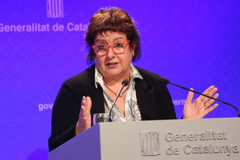 Dolors Bassa, en un acto como consejera de Trabajo de la Generalitat.