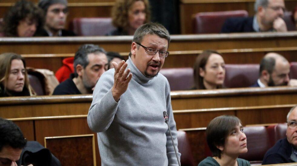 El portavoz de En Comú Podem Xavier Doménech, en el Congreso.