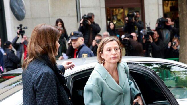 La presidenta del Parlament de Cataluña , Carme Carmen Forcadell, a su llegada al Tribunal Supremo.