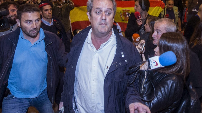 El exconseller de Interior, Joaquim Forn, a su llegada al aeropuerto de Barcelona.