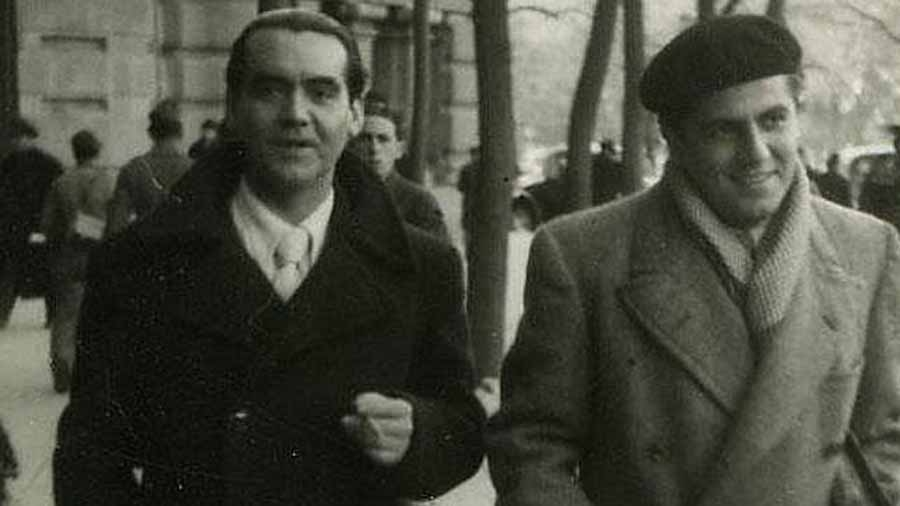 Federico García Lorca y Rafael Rodríguez Rapún.