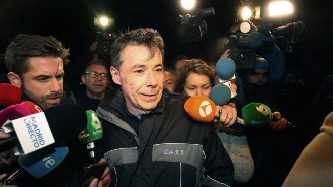 El ex presidente de la Comunidad de Madrid, Ignacio González, a su salida de la cárcel.