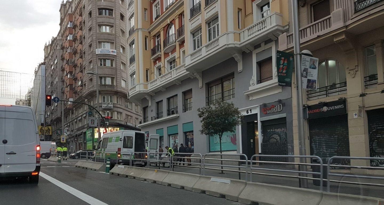 Imagen de la Gran Vía peatonal, el pasado martes 28 .